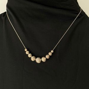 925 Sterling Silver Beaded Necklace